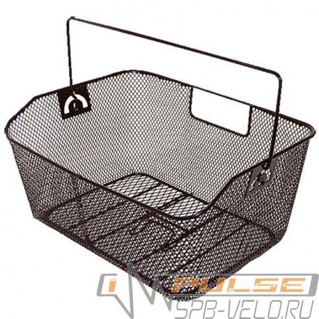 Корзина на багажник 400х300х180мм(черная)