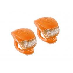 Фонарь M-WAVE COBRA lV(2 led/3 functions)F+R(orange)