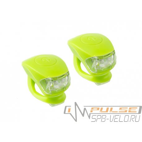 Фонарь M-WAVE COBRA lV(2 led/3 functions)F+R(green)