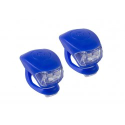 Фонарь M-WAVE COBRA lV(2 led/3 functions)F+R(blue)