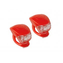 Фонарь M-WAVE COBRA lV(2 led/3 functions)F+R(red)
