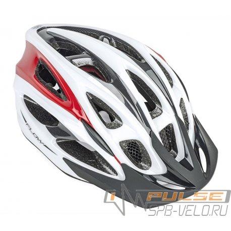 Шлем AUTHOR Flow Bil/Crv(Wh/Red)54-61cm(M)