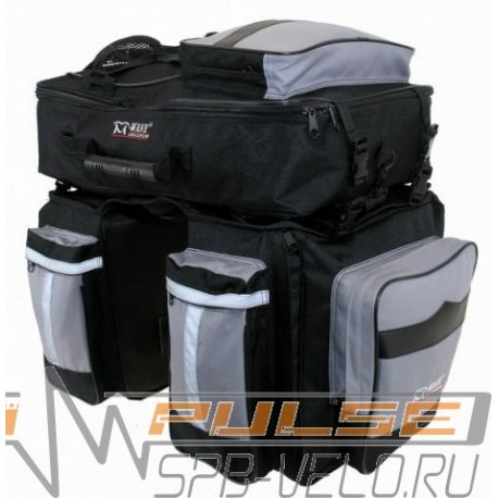 Сумка на багажник M-WAVE 3 в 1(2х17+28л)