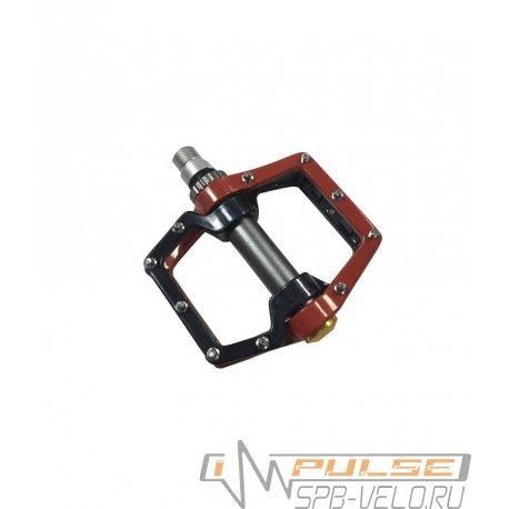 Педали ALNC-930(94x100х21,5mm)sealed bearing/black/red