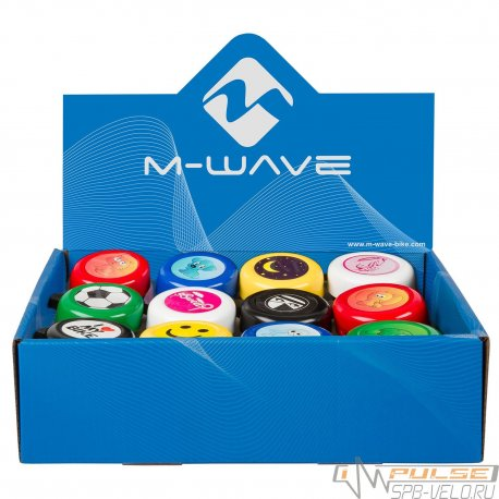 Звонок M-WAVE 420191(сталь/пластик/в ассортименте)