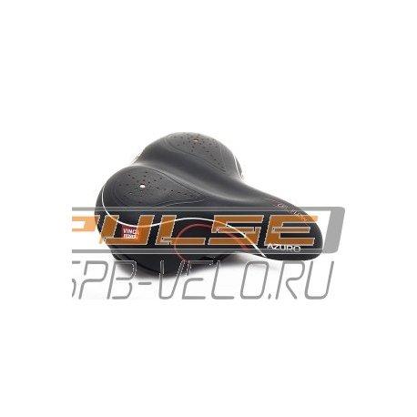 Седло VS 02 Azuro(246х206mm)black/red/white lines/gel