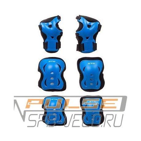 Защита детская STG YX-0308(черный/синий)M