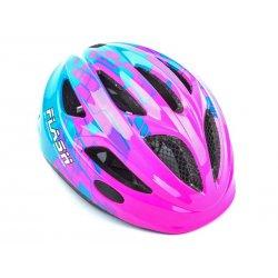 Шлем AUTHOR FLASH 162(pink/blue)47-51cm(фонарик)