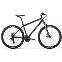 """Велосипед FORWARD SPORTING 2.2D 27.5""""/17""""(21)темно-серый/черный"""