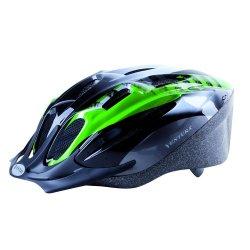 Шлем M-WAVE ACTIVE(M)53-57cm(черно-бело-зеленый)