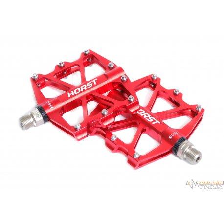 Педали HORST H518(91x101х11,5mm)sealed bearing/красные