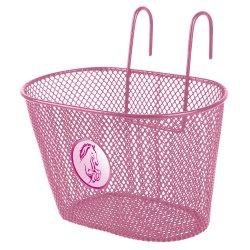 Корзина детская 250х145х150мм(сталь)розовая с логотипом