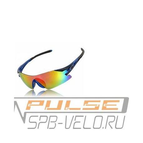 Очки вело.VS VG 25(2 линзы/оправа черная/синяя)