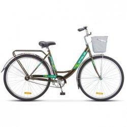 "Велосипед STELS Navigator-345 Lady 28""/20""(21)темно-оливковый"