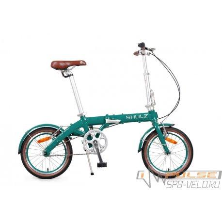 """Велосипед складной SHULZ Hopper 16""""(21)бирюзово-зеленый"""