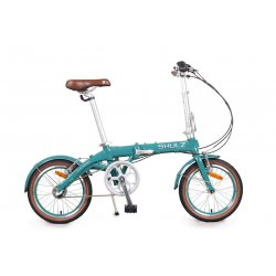 """Велосипед складной SHULZ Hopper 3 16""""(21)бирюзово/зеленый"""