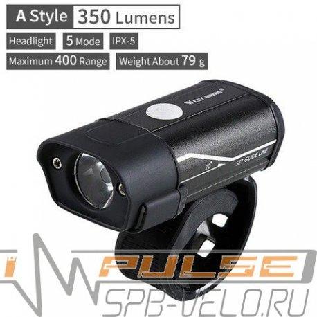 Фонарь West Biking HYD-018(1 led/300lm/4 functions)USB