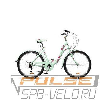 "Велосипед HORST Perle 26/18""(21) бирюза/малиновый"