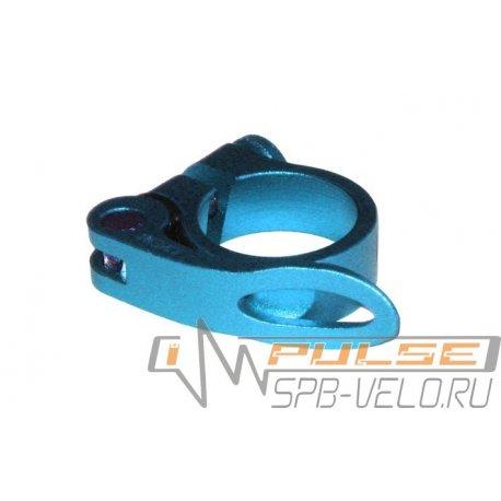 Хомут подседельный AS-01+SQ-139 25,4мм(blue)
