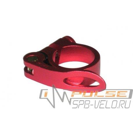 Хомут подседельный AS-01+SQ-139 25,4мм(red)
