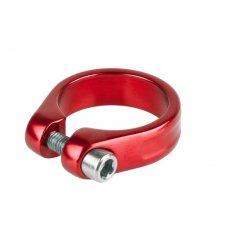 Хомут подседельный M-Wave34,9мм(болт)красный