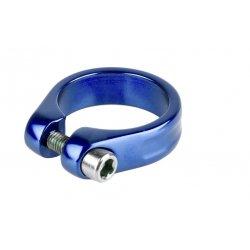 Хомут подседельный M-Wave34,9мм(болт)синий