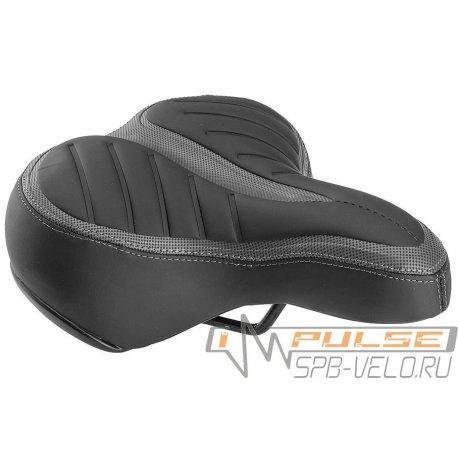 Седло AZ-5555/G-02 250x210mm(черное/серое)на пружинах