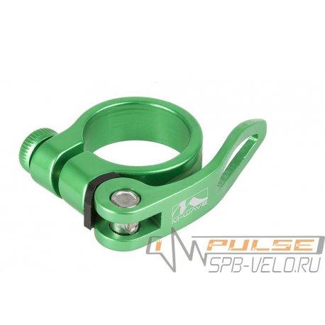 Хомут подседельный M-Wave34,9мм(зеленый)