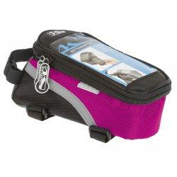 Сумка на раму M-WAVE(для смартфона)L(черно-розовая)