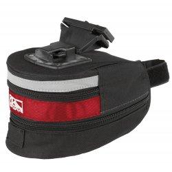 Сумка подседельная M-WAVE L(180х110х100-170mm)черно-красная