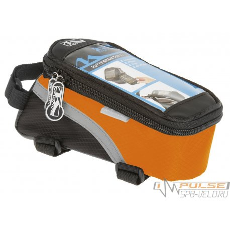 Сумка на раму M-WAVE(для смартфона)L(170х80х80)черно-оранжевая