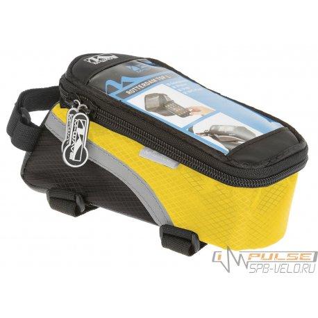 Сумка на раму M-WAVE(для смартфона)L(170х80х80)черно-желтая