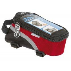 Сумка на раму M-WAVE(для смартфона)L(170х80х80)черно-красная