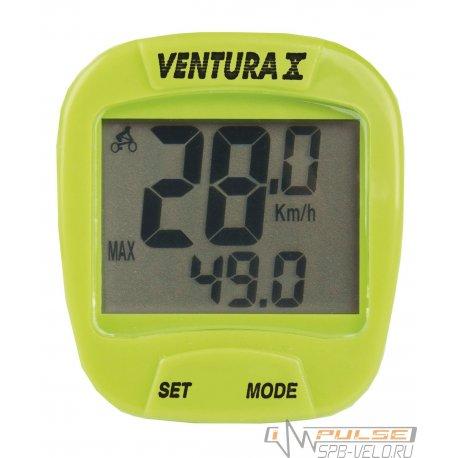 Велокомпьютер VENTURA X(10 function)зеленый