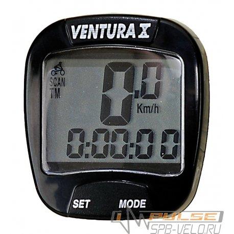 Велокомпьютер VENTURA X(10 function)черный