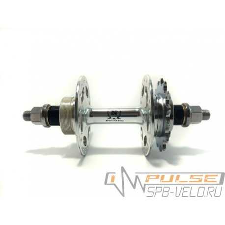 Втулка задняя NOVATEC(36H/17T/M10/140)fix/single speed/silver