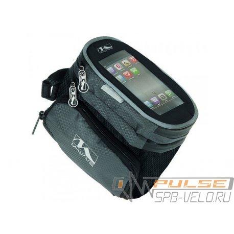 Сумка на раму M-WAVE ROTTERDAM TOP(для смартфона)XL(160x110x130)черная