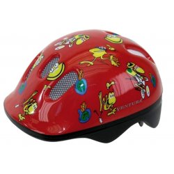 Шлем детский VENTURA FROGS XS 48-52cm(красный)