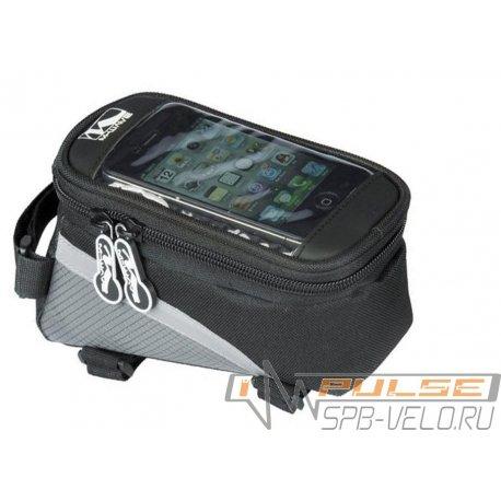 Сумка на раму M-WAVE ROTTERDAM TOP(для смартфона)L(170x8x80mm)черная