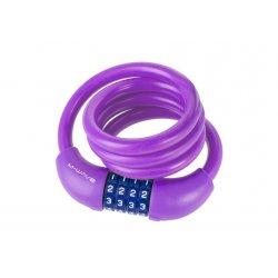 Замок кодовый M-WAVE DS12.10S(12х1000mm)фиолетовый