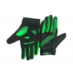 Перчатки FUZZ WIND PRO(черные/неон.)длинные пальцы/M