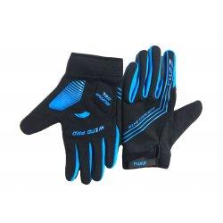 Перчатки FUZZ WIND PRO(черные/синие)длинные пальцы/L