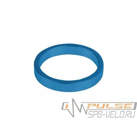 """Кольцо рулевое 1 1/8""""(5mm)blue"""