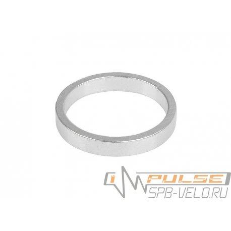 """Кольцо рулевое 1 1/8""""(5mm)silver"""