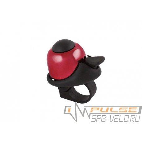 Звонок M-WAVE алюминий/пластик(D36мм)красный