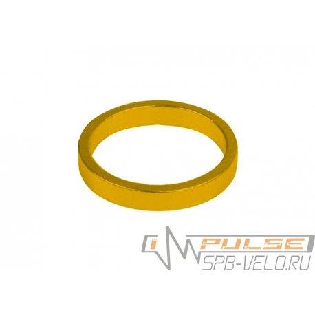 """Кольцо рулевое 1 1/8""""(5mm)gold"""