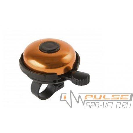 Звонок M-WAVE алюминий/пластик (D53мм)оранжевый
