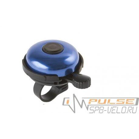 Звонок M-WAVE алюминий/пластик (D53мм)синий