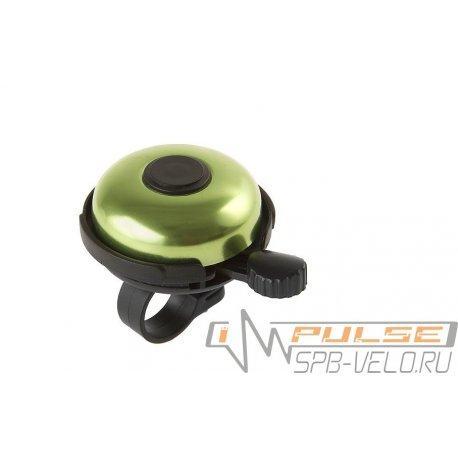 Звонок M-WAVE алюминий/пластик (D53мм)зеленый
